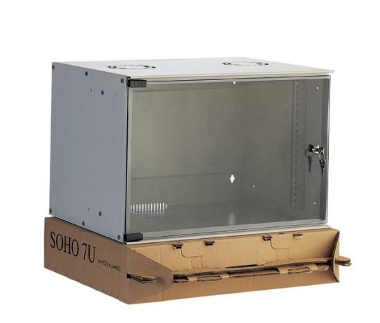 """Digitus ECO-Line 7U 19"""" nástěnná skříň, šedá, hl.40cm,nesmontovaná"""