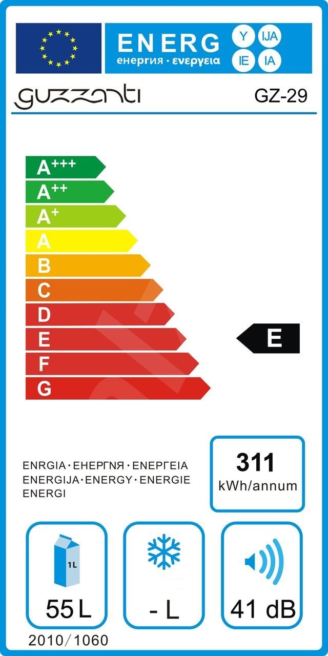 Termochladicí prosklená duální vinotéka Guzzanti GZ 29