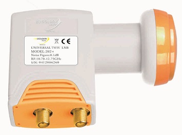 LNB Golden Media 202+ Twin High Gain 0,1 dB