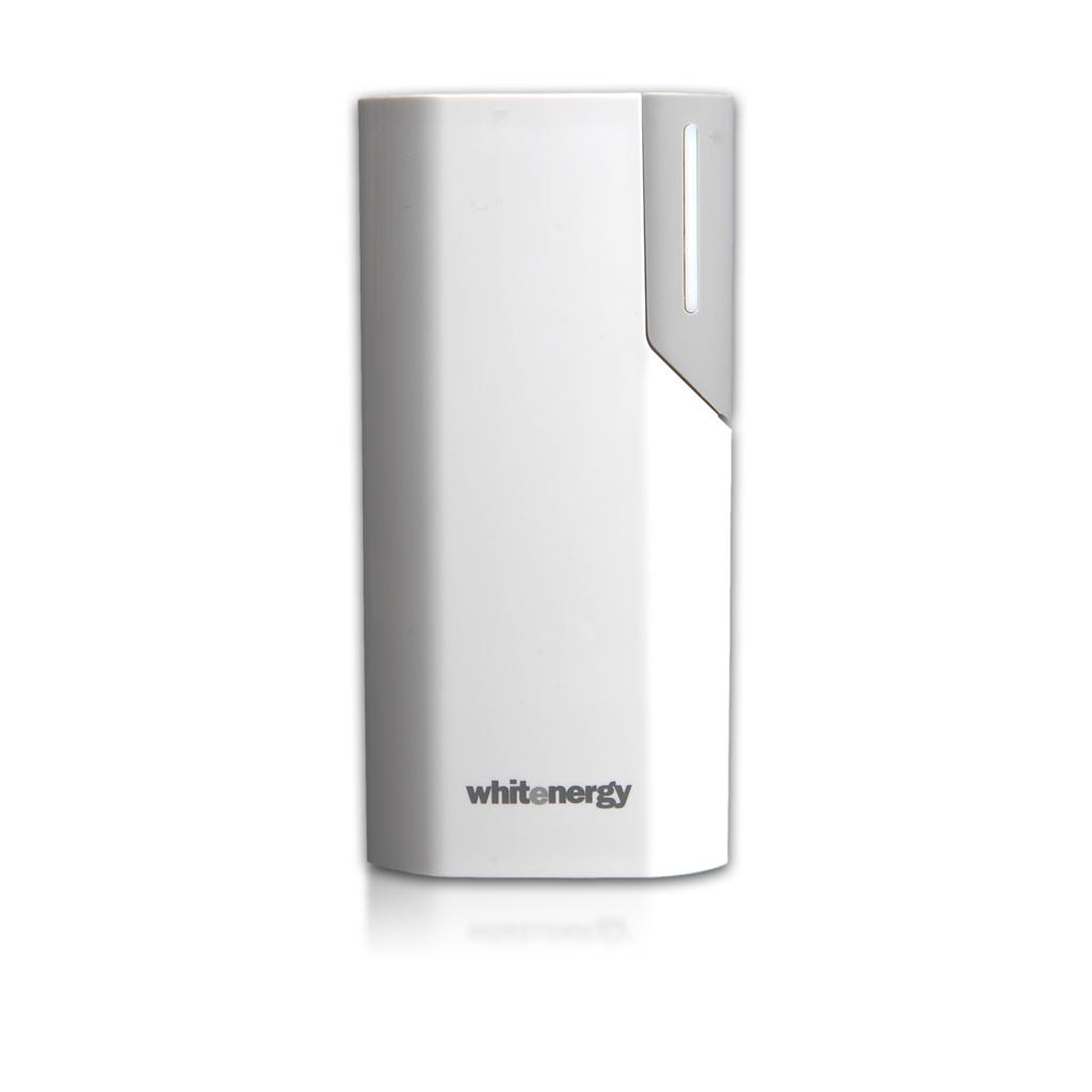 Whitenergy Power Bank 4000mAh Li-Ion 1A bílá-šedá