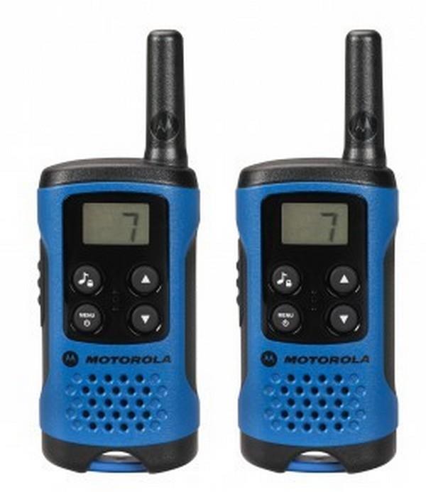 Motorola TLKR T41 vysílačka - 4 km, 8 kanálů, modrá (bez CZ/SK manuálu)