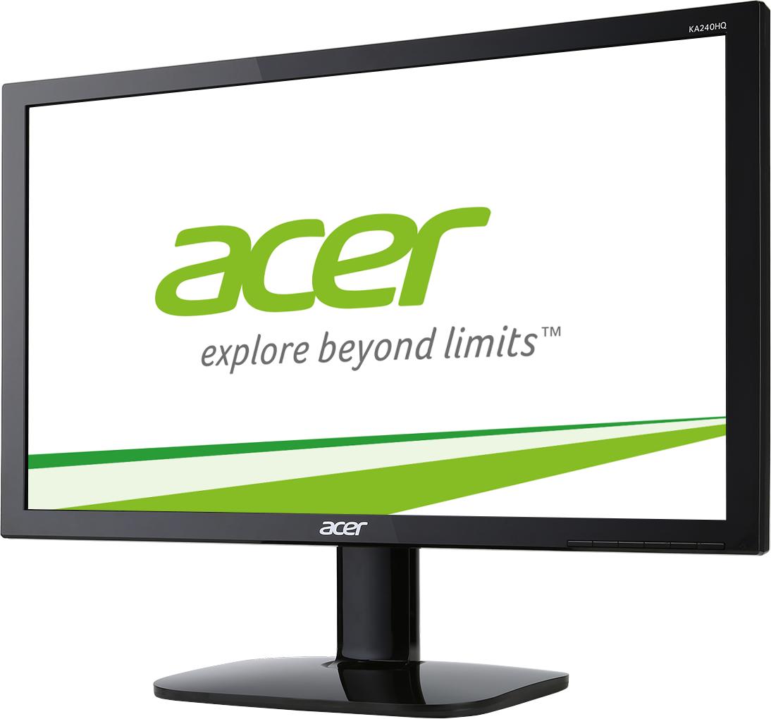 Acer LCD KA240HQBbid, 60cm (23,6'') LED, 1920 x 1080, 100M:1, 1ms, VGA+HDMI+DVI, Black
