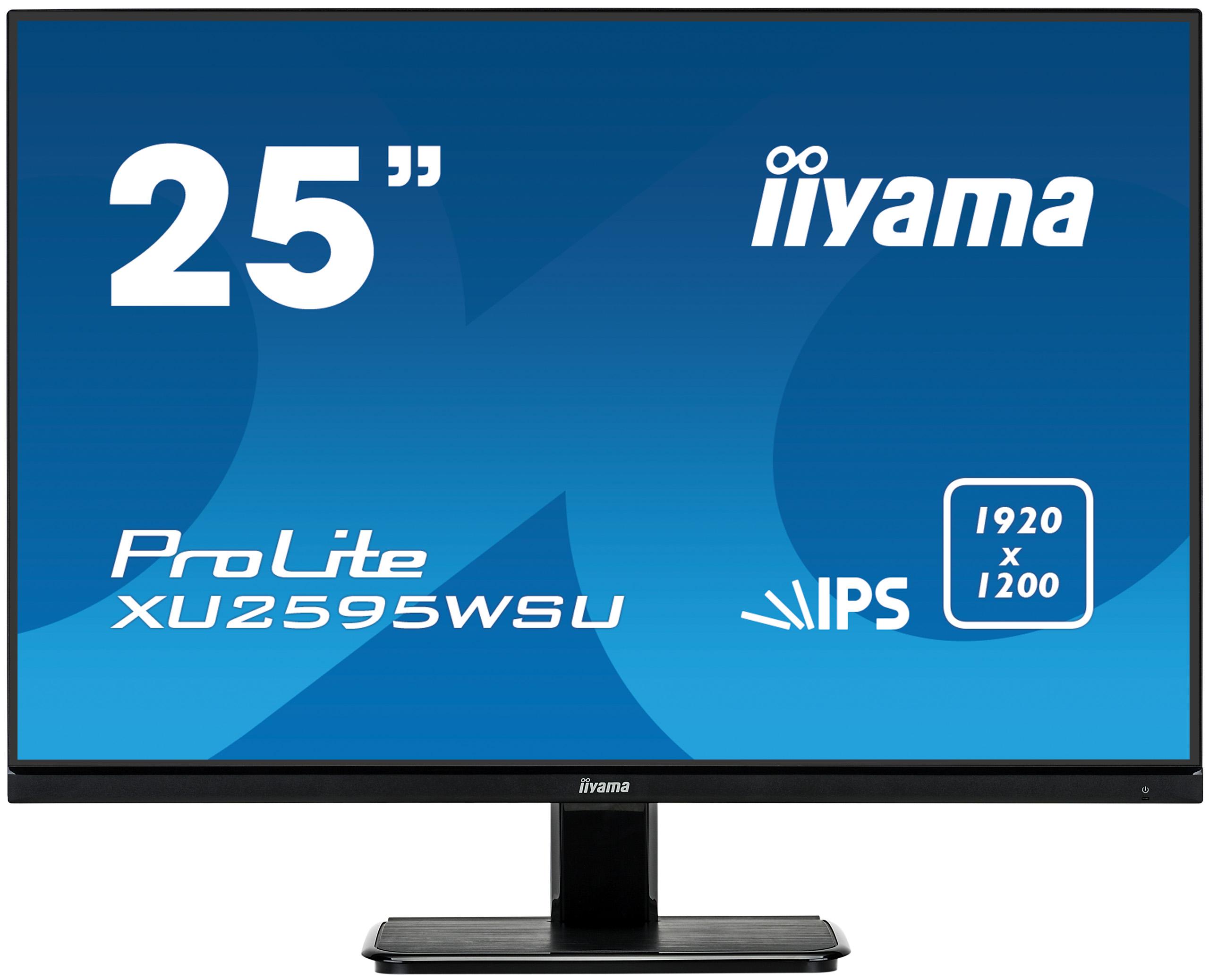 """25"""" iiyama XU2595WSU-B1: IPS, WUXGA (16:10)@75Hz, 300cd/m2, 4ms, VGA, HDMI, DP, USB, FreeSync, černý"""
