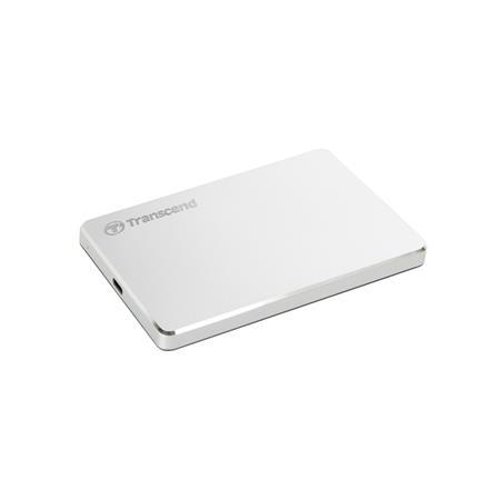 """TRANSCEND 1TB StoreJet 25C3S, 2.5"""", USB-C (3.1 Gen 1) Stylový externí hard disk, ultra-tenký, stříbrný"""