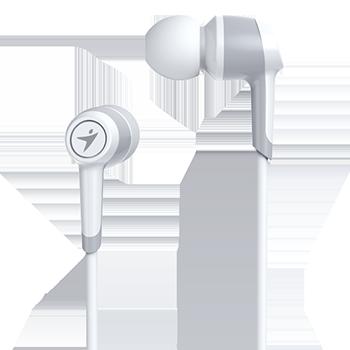 Genius headset - HS-M225 sluchátka s mikrofonem/ bílý/ 4pin 3,5mm konektor