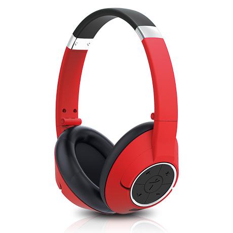 GENIUS headset - HS-930BT/sluchátka s mikrofonem/ Bluetooth 4.0/ dobíjecí/ červené