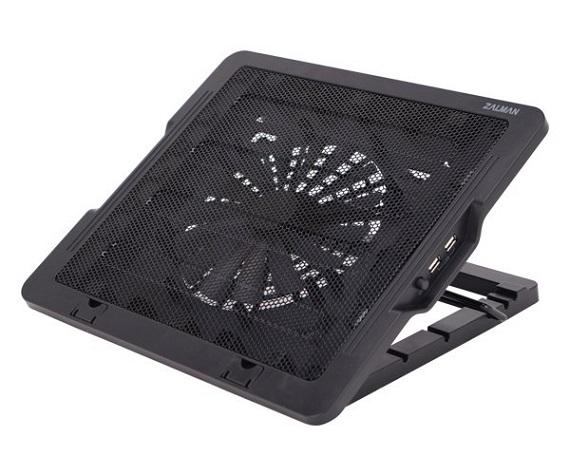 """Zalman chladící podložka pro ZM-NS1000, černá, výškově stavitelný, do 16"""", 180mm větrák"""