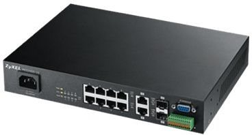 ZyXEL MES3500-10, 10-port Metro Aggregation switch, L2+, Wire speed 8x 10/100Mbps + 2x combo Gigabit (SFP/RJ45) ports, Q