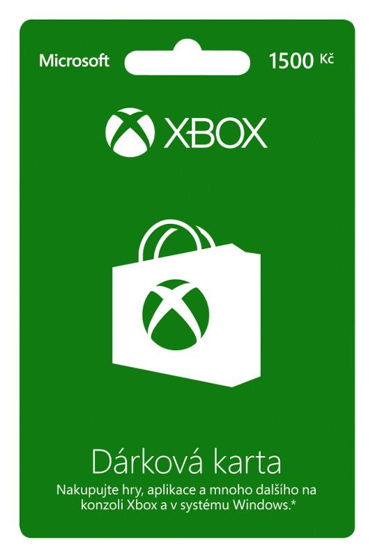 XBOX LIVE Předplacená dárková karta 1500 Kč