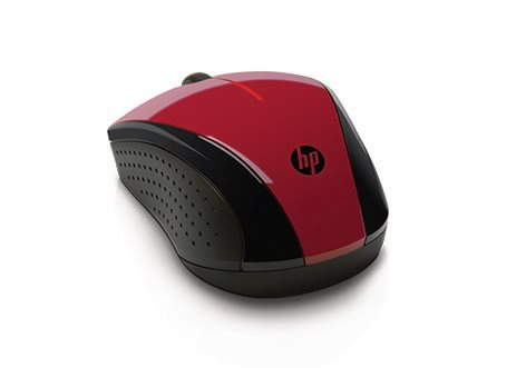 HP myš X3000 bezdrátová červená