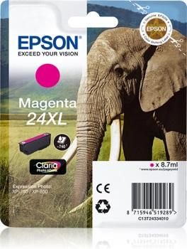 Inkoust Epson T2433 magenta XL | 8,7 ml | XP-750/850