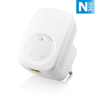 Zyxel WRE2206, Wireless N300 (802.11n 300Mbps) Range Extender/Repeater, Direcplug design, 1x 10/100Mbps LAN port, WPS bu