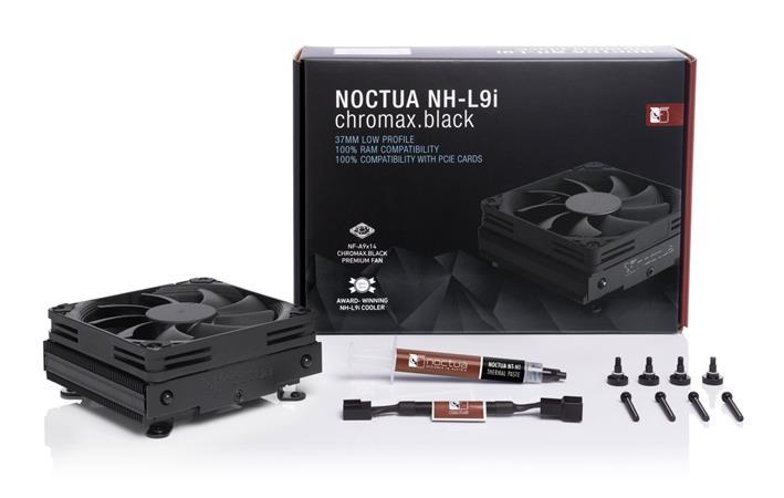 Noctua NH-L9i chromax.black, Intel LGA1150, LGA1151, LGA1155, LGA1156, AMD AM4 with NM-AM4-L9aL9i