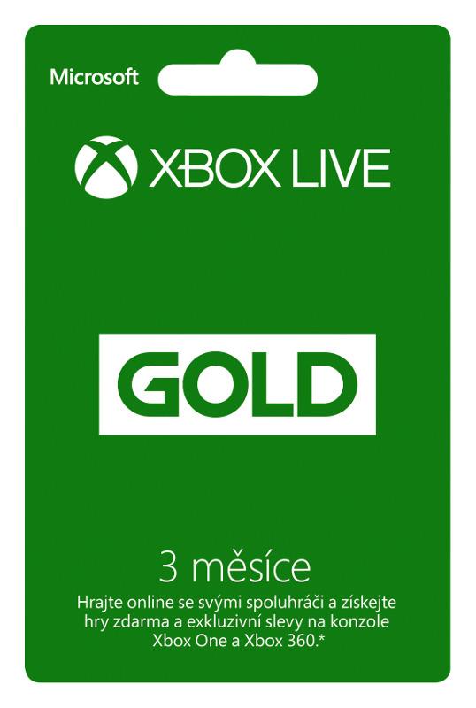XBOX LIVE Gold Card - zlaté členství 3 měsíce