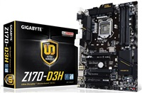 GIGABYTE MB Sc LGA1151 Z170-D3H, Intel Z170, 4xDDR4, VGA