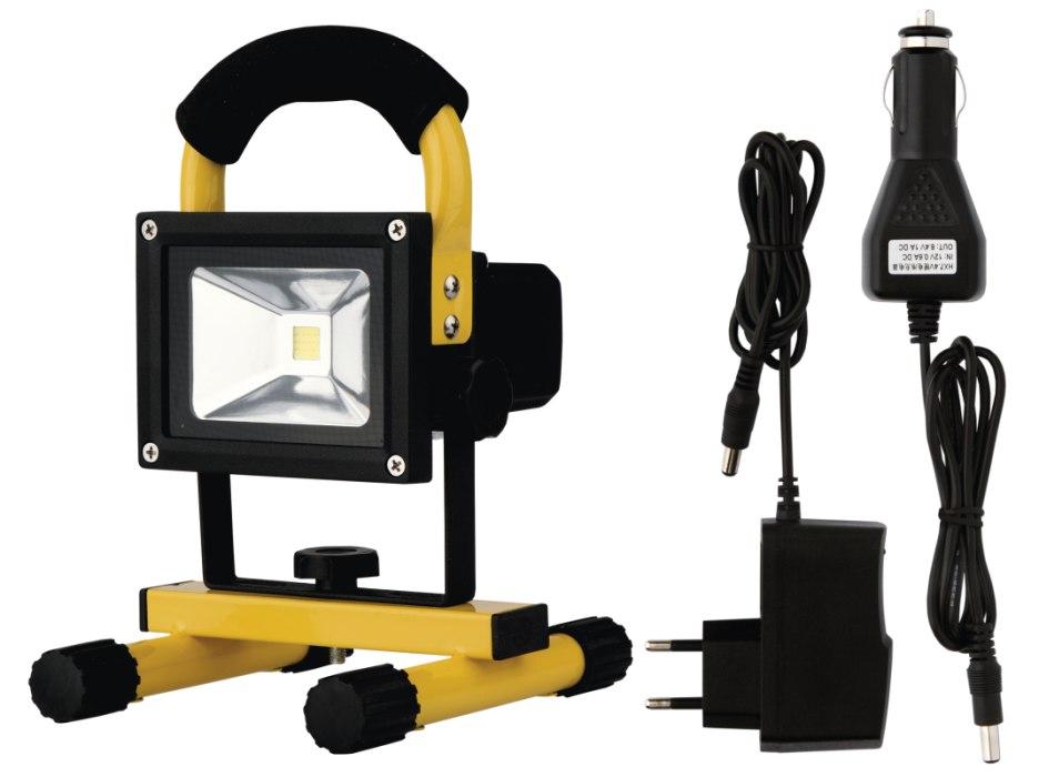Emos Reflektor LED AKU COB 10W DL denní bílá, IP65, přenosný nabíjecí, 500 lm