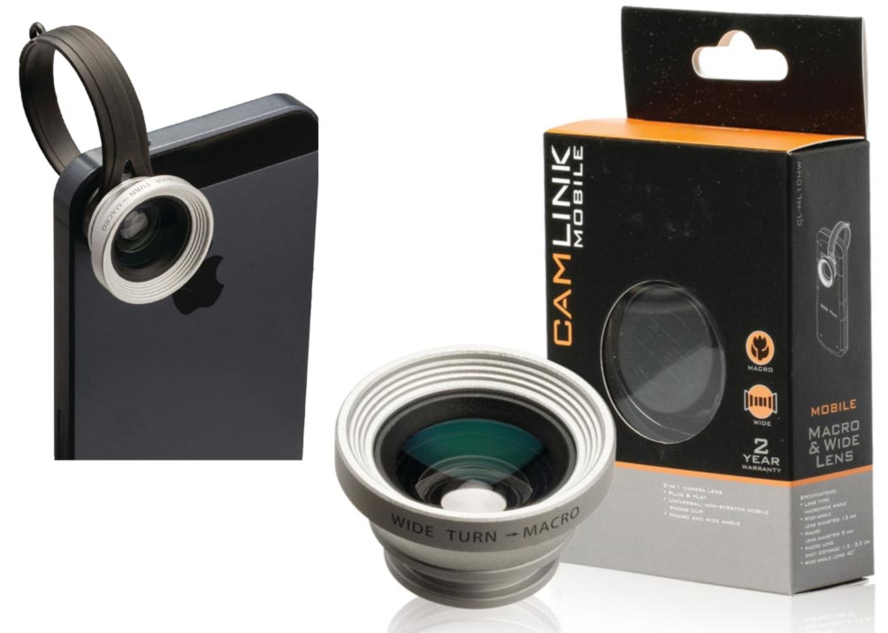 Camlink CL-ML10MW - Objektiv pro mobilní telefon 2v1 - Wide/Macro