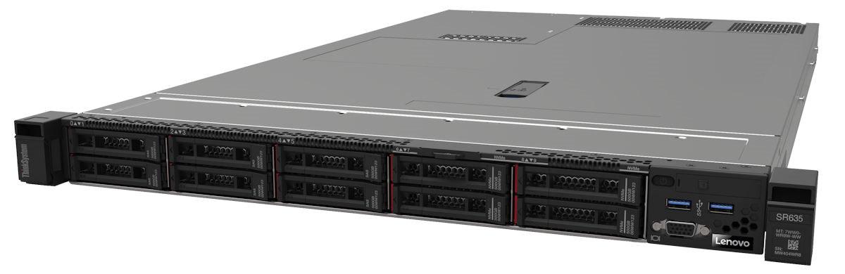 """Lenovo ThinkSystem SR635 EPYC 7232P 8C 2.8GHz 120W/1x32GB/0GB 2,5"""" (8)/2x128GB M.2/4x1Gb Eth. OCP/930-8i(2BG f)/750W"""
