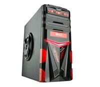 C-TECH herní skříň ARES (GC-02), černo-červená