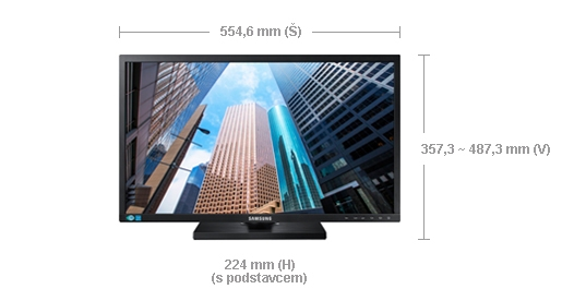 "Samsung LED LCD 24"" S24E650 - PLS/1920x1080/1000:1/4ms/250cd/D-SUB/DP/HDMI/USB"