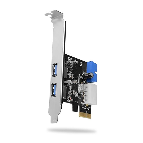 AXAGON PCEU-232VL, PCIe řadič, 2+2x USB 3.2 Gen 1 port, UASP, vč. LP