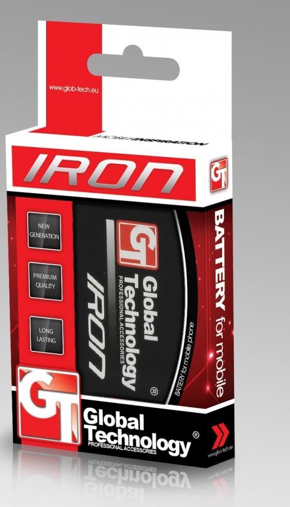 GT Iron baterie pro LG Optimus L7 P700 2500mAh (BL-59JH)