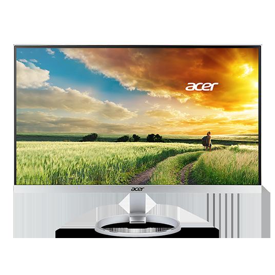 Acer LCD H277Hsmidx, 69cm (27'') IPS LED, 1920 x 1080, 100M:1, 4ms, DVI, HDMI(MHL), Aluminium&Piano black