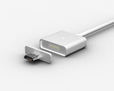 MicroUSB magnetický kabel, dvě koncovky 1m