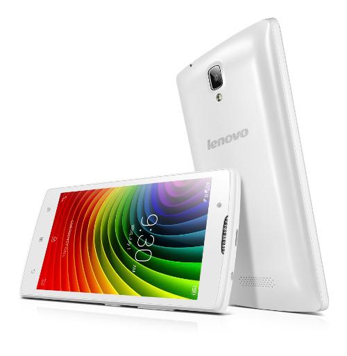 """Lenovo Smartphone A2010 Dual SIM/4,5"""" TN/854x480/Quad-Core/1,0GHz/1GB/8GB/5Mpx/LTE/Android 5.1/White"""