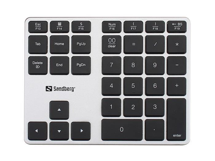Sandberg bezdrátová numerická klávesnice ALU