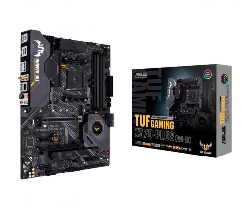 ASUS TUF Gaming X570-Plus (WI-FI) ASUS TUF Gaming X570-Plus (WI-FI), AM4, X570, 4 DDR4/ 128 GB, HDMI, DP