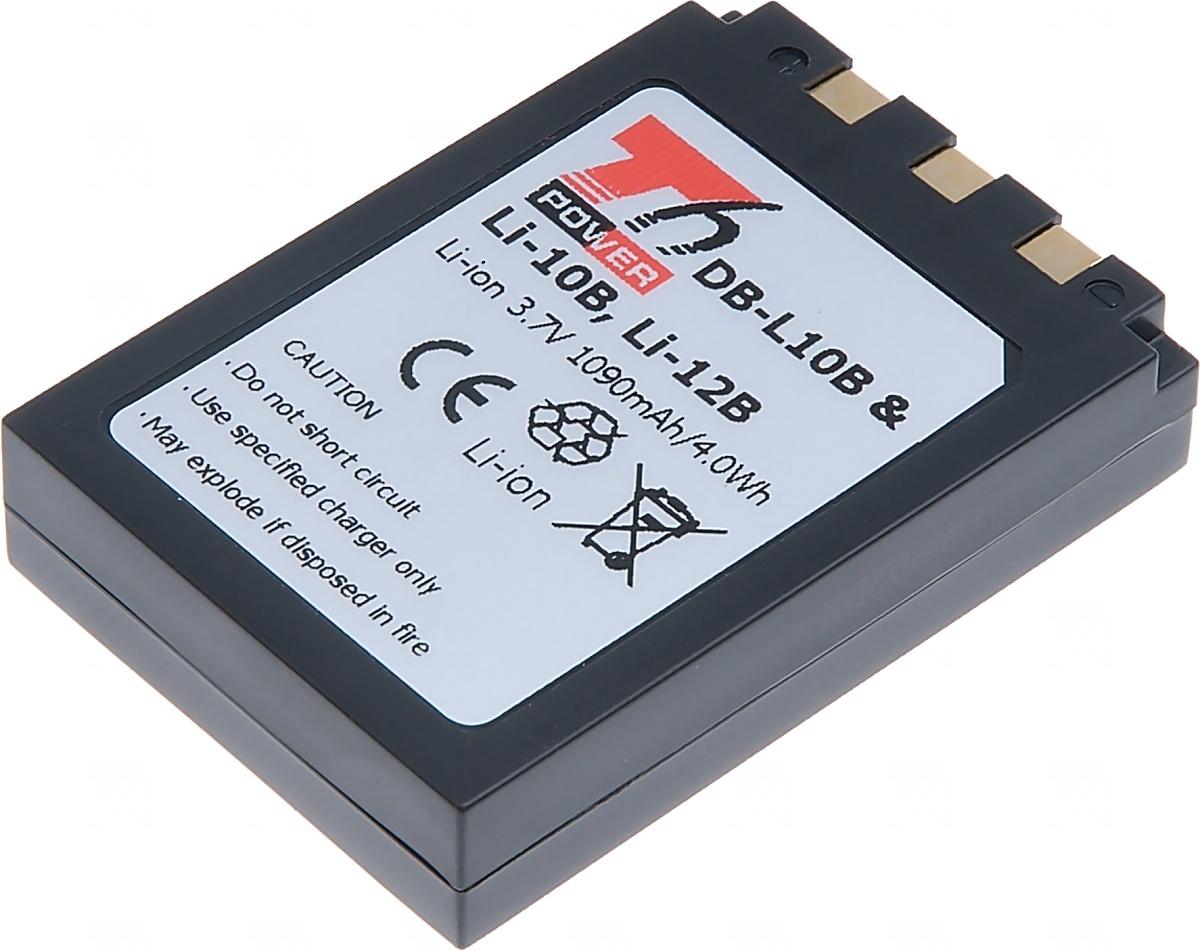 Baterie T6 power Olympus Li-10B, Li-12B, Sanyo DB-L10B, Li-ion, 1090mAh, černá