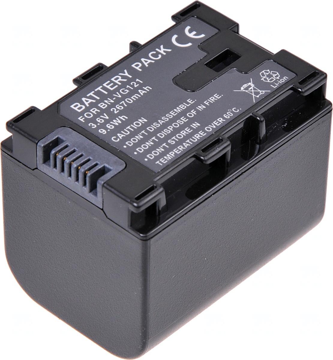 Baterie T6 power JVC BN-VG121, BN-VG114, BN-VG107, 2400mAh, 8,6Wh, černá