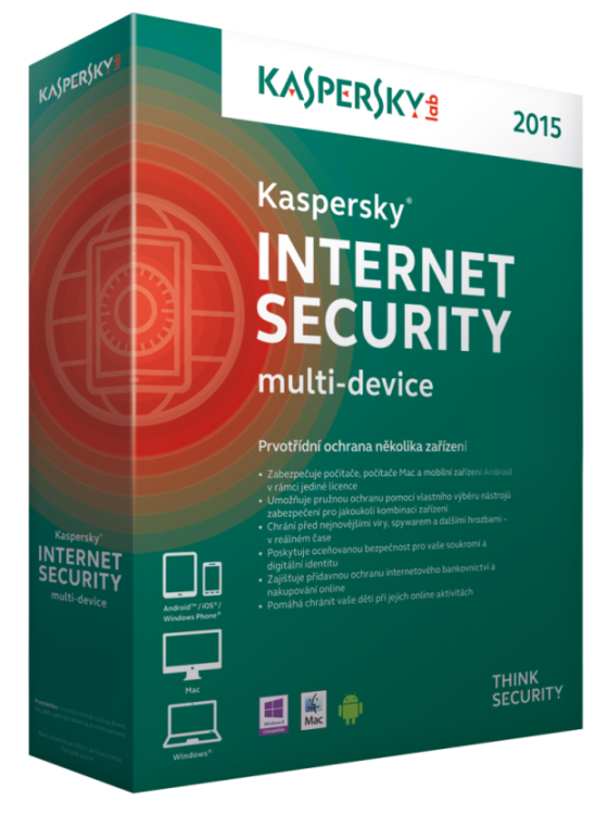 Kaspersky Internet Security MD 2015,3 zař.,1 rok