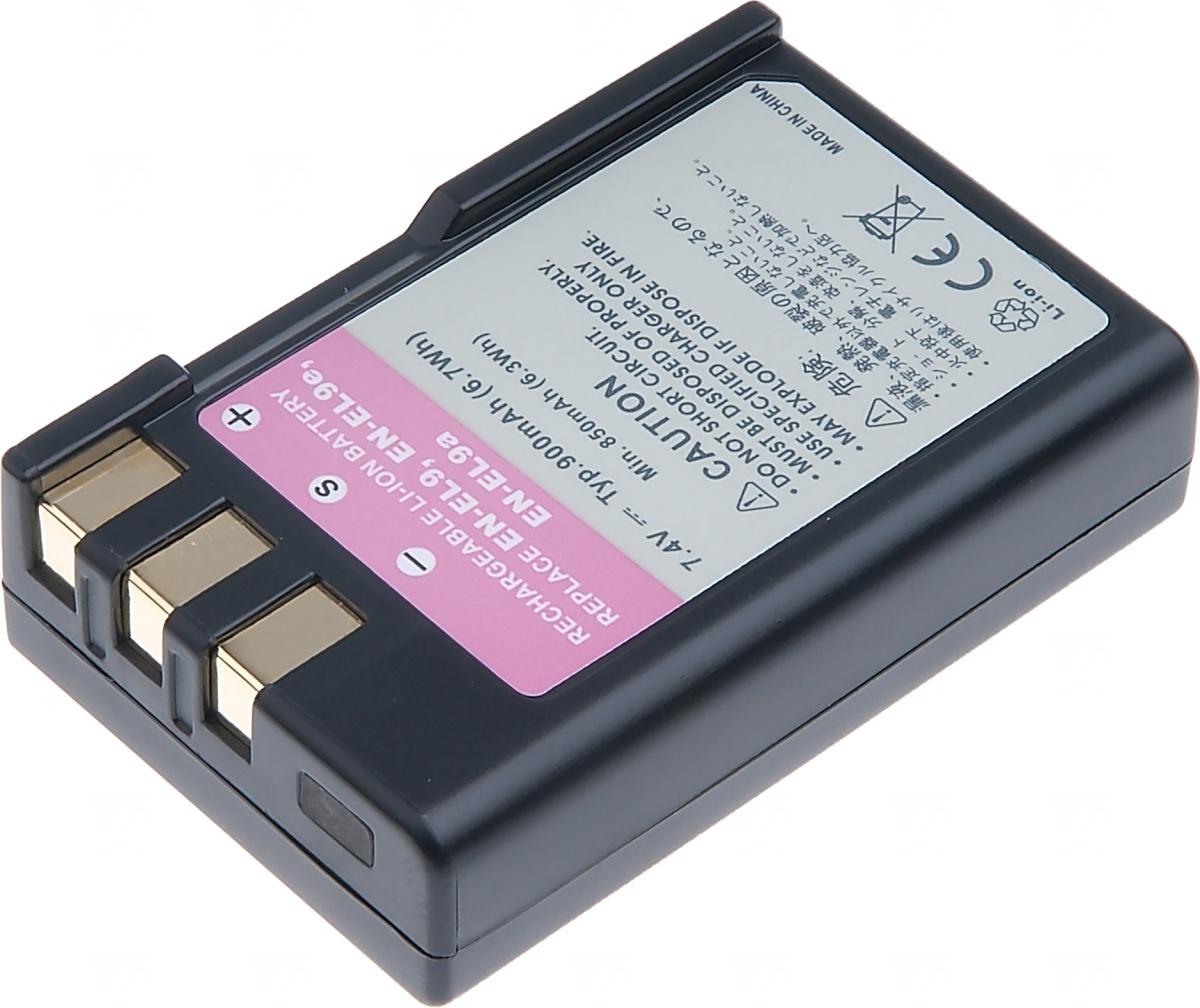 Baterie T6 power Nikon EN-EL9, 900mAh, černá