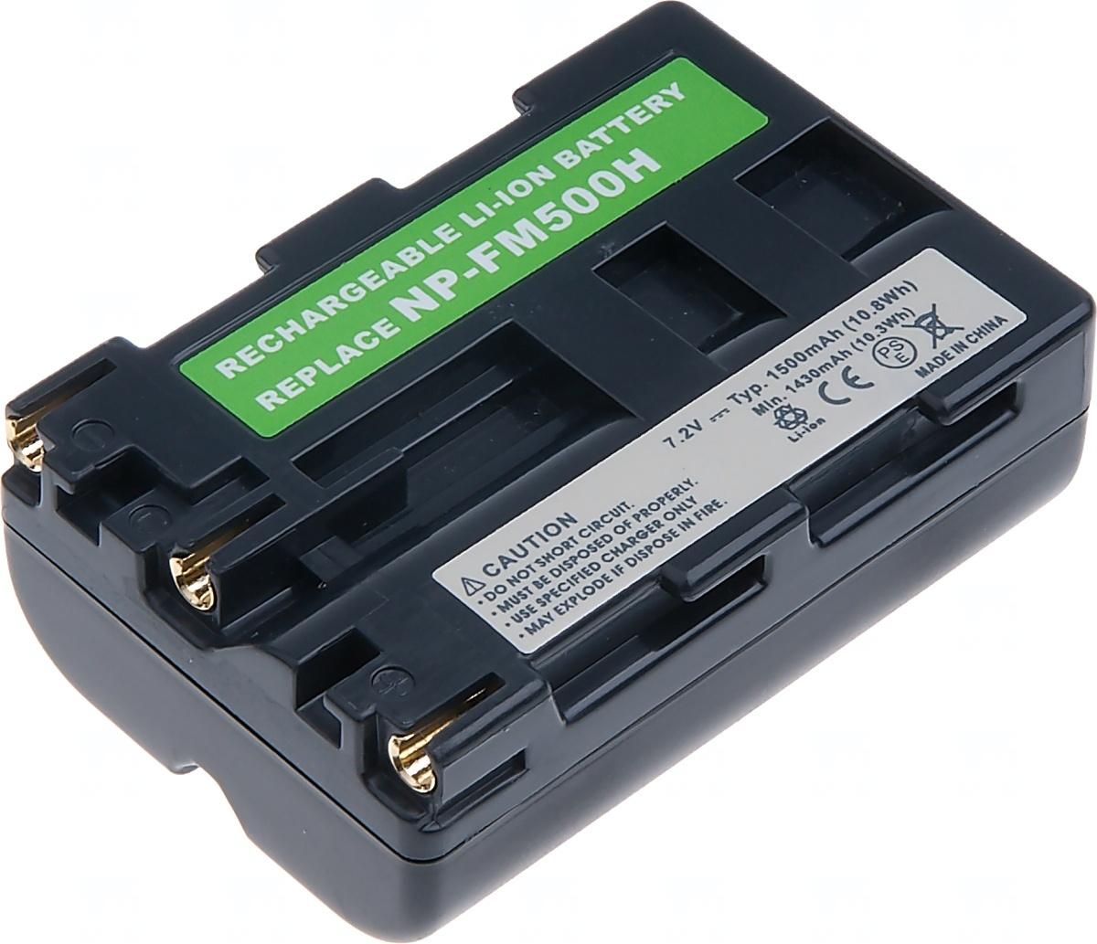 Baterie T6 power Sony NP-FM500H, 1700mAh, šedá