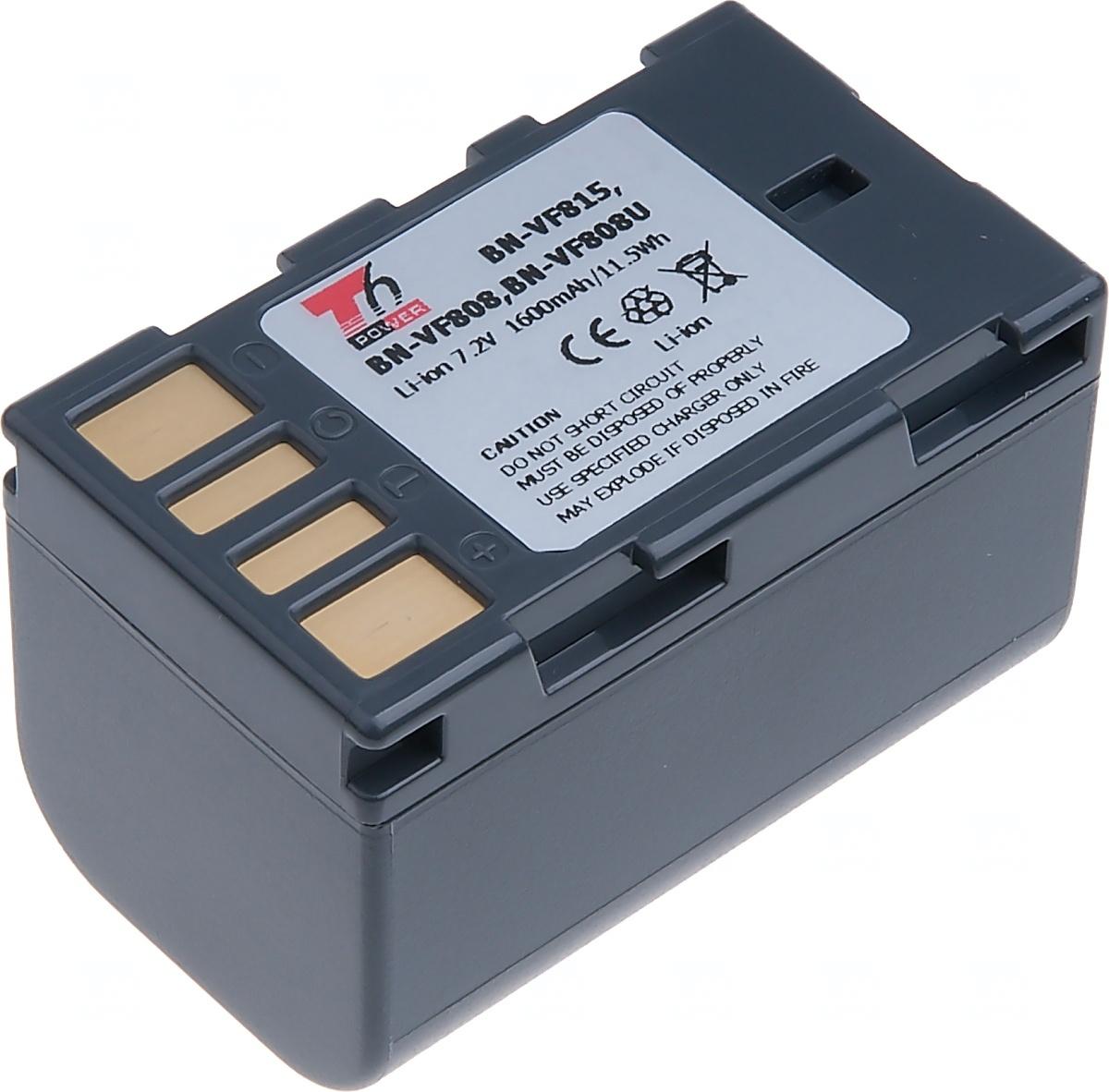 Baterie T6 power JVC BN-VF808, VF815, 1600mAh, šedá