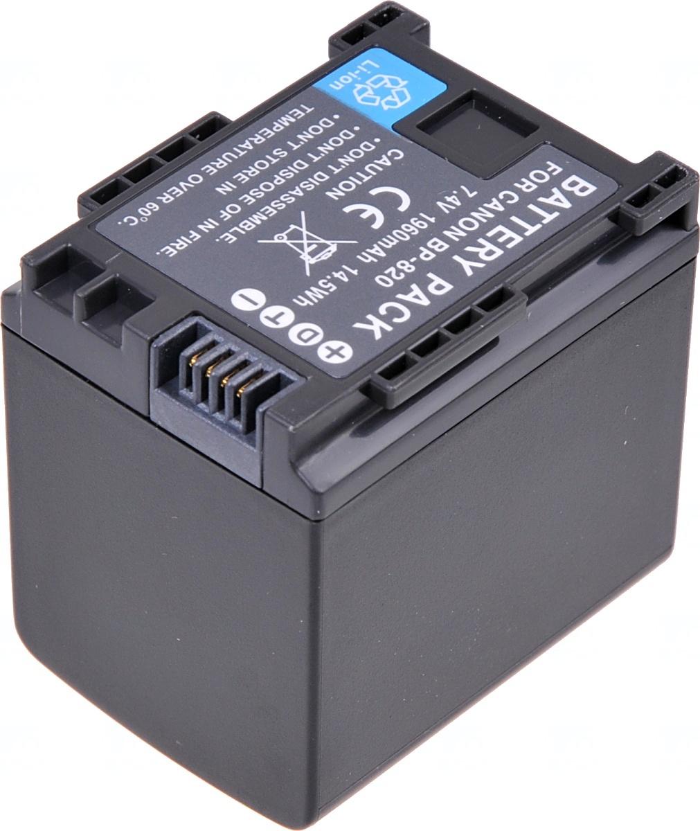 Baterie T6 power Canon BP-820, 1780mAh, černá