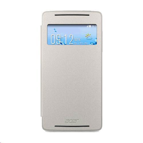 ACER Smartphone Liquid Z220/M220, Flip Cover, bílý