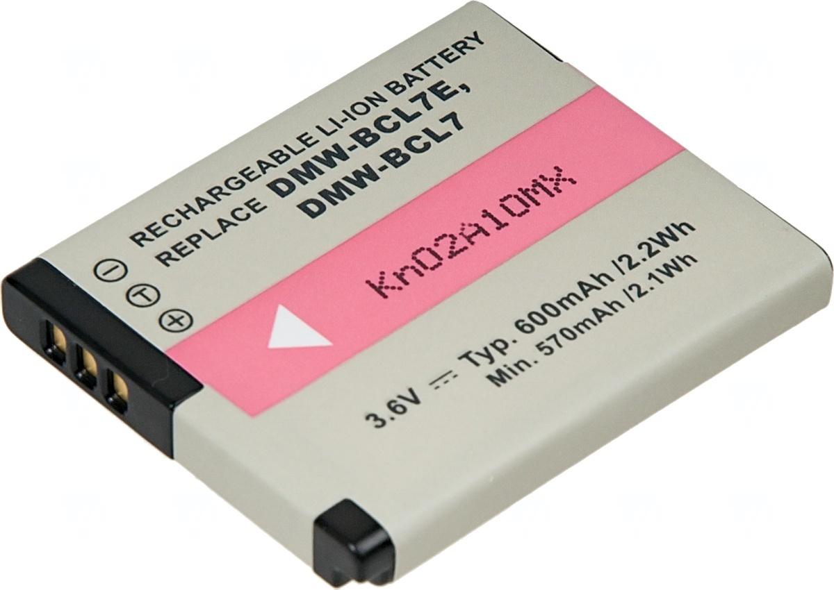 Baterie T6 power Panasonic DMW-BCL7, 600mAh, černá