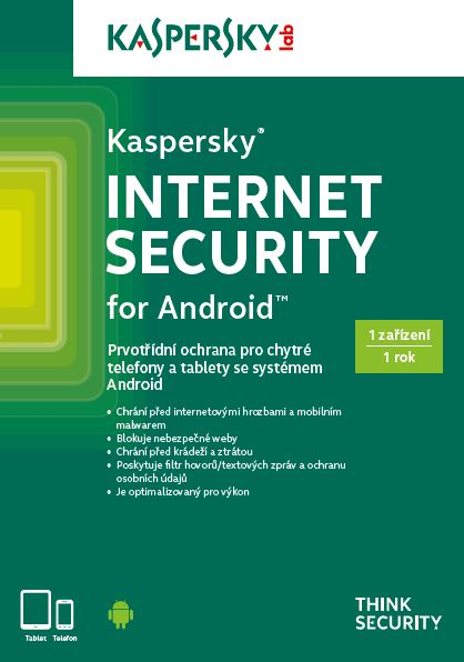 Kaspersky Internet Security ANDROID CZ 1x/1 rok