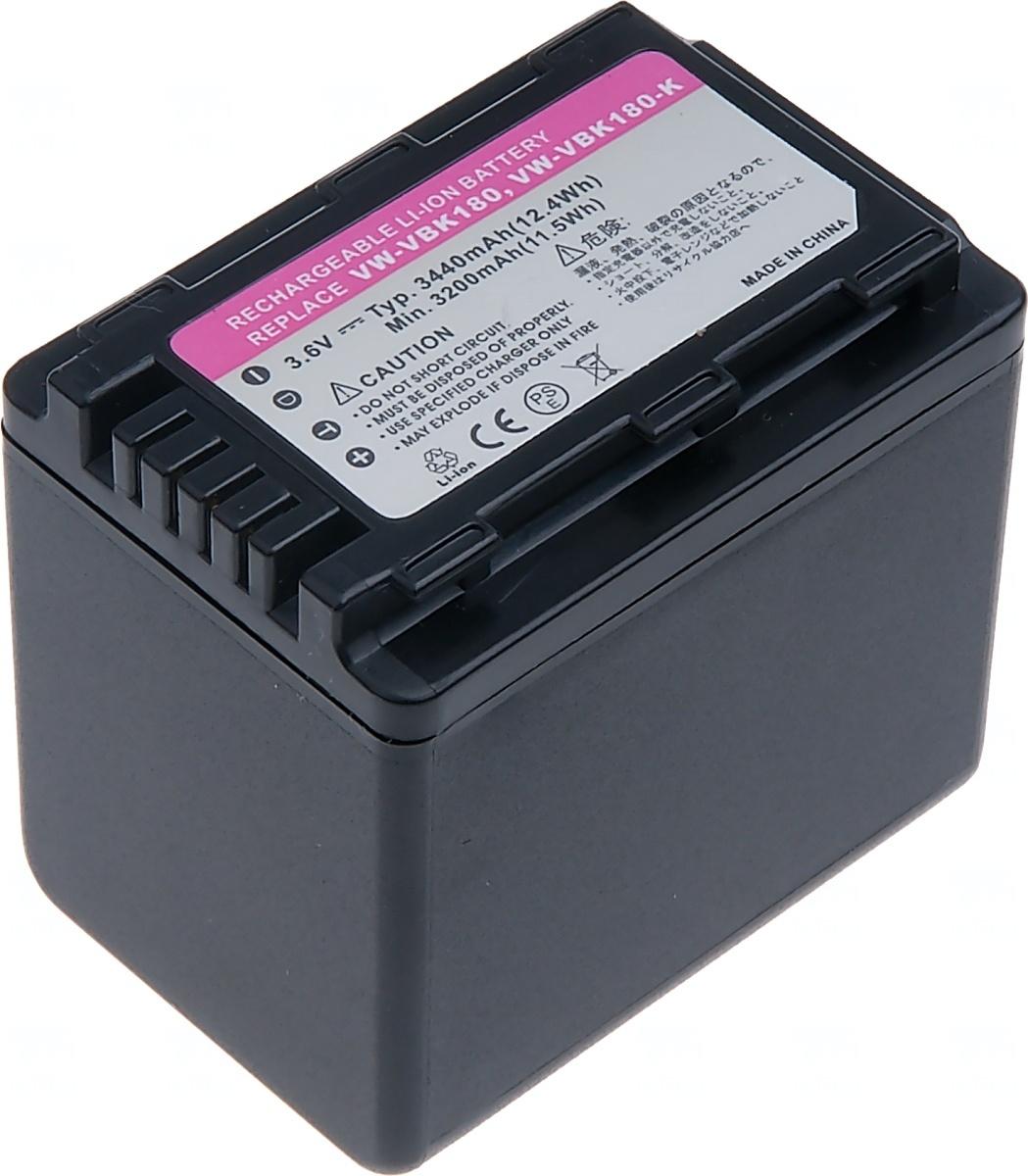 Baterie T6 power Panasonic VW-VBK360, 3440mAh, černá