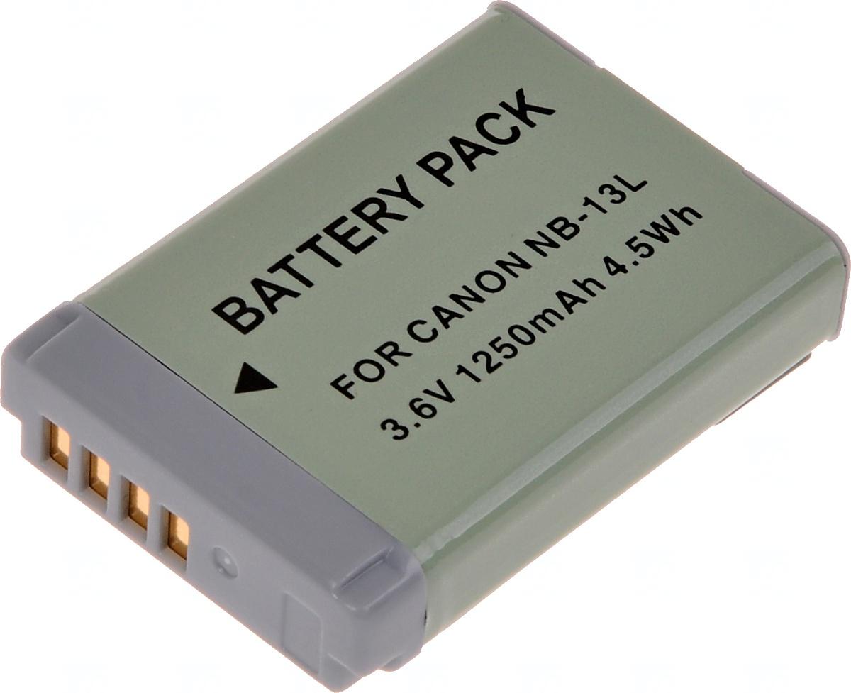 Baterie T6 power Canon NB-13L, 1250mAh, 4,5Wh, šedá