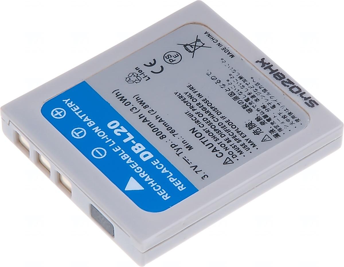 Baterie T6 power Sanyo DB-L20, 800mAh, šedá