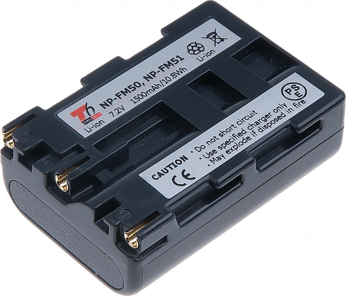 Baterie T6 power Sony NP-FM50, NP-FM51, 1500mAh, šedá