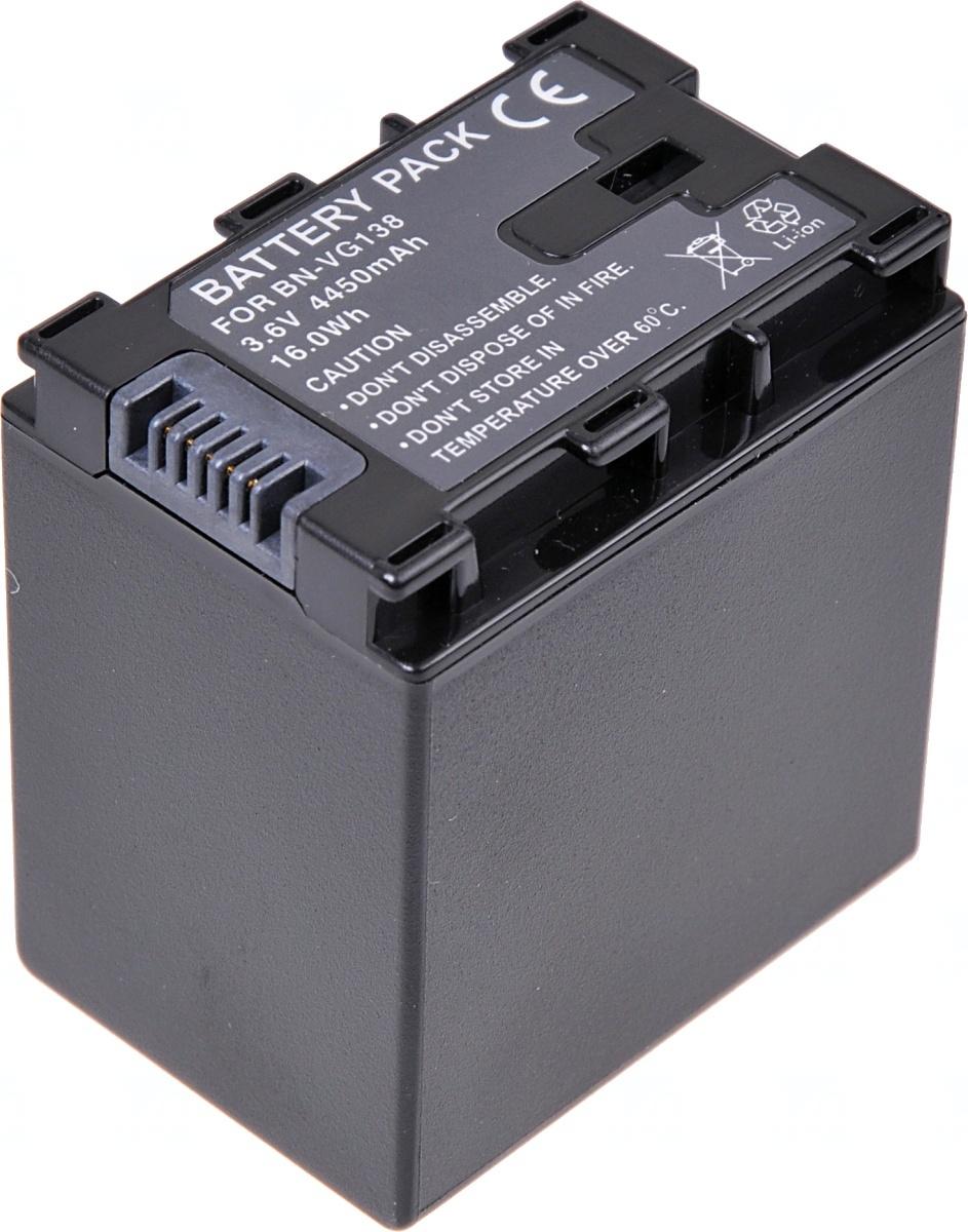 Baterie T6 power JVC BN-VG138, 4000mAh, 14,4Wh, černá