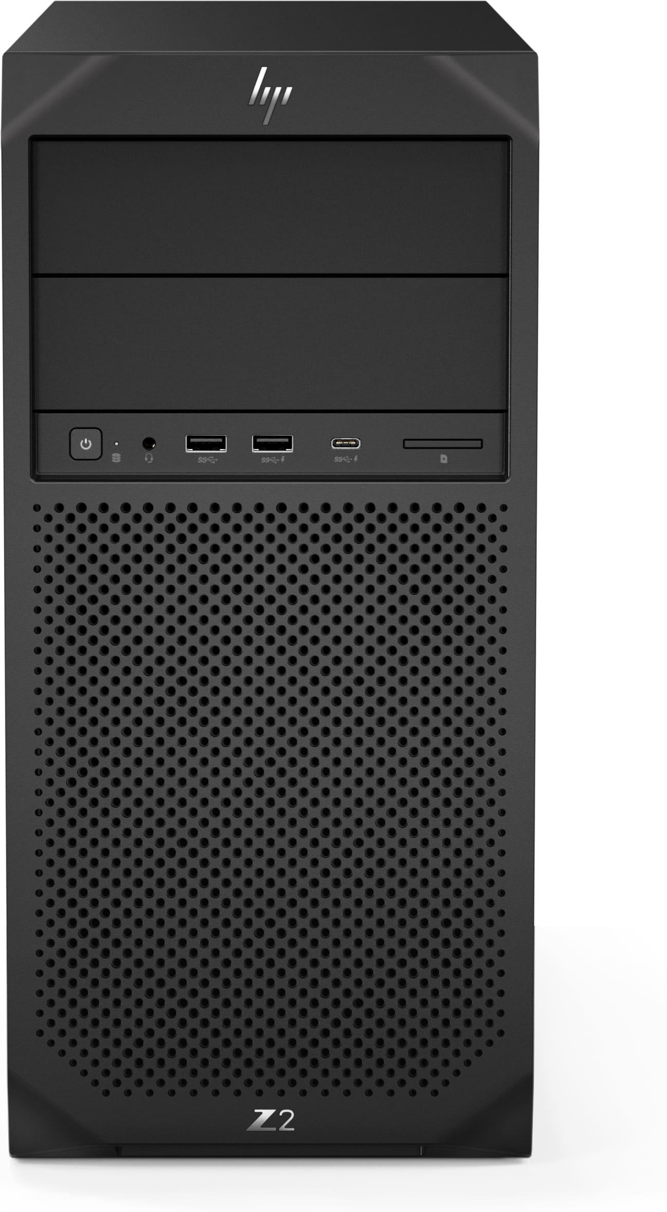 HP Z2 G4 TWR, Xeon E-2274G, P2200/5GB, 16GB, SSD256GB, DVDRW , W10Pro, 3-3-3