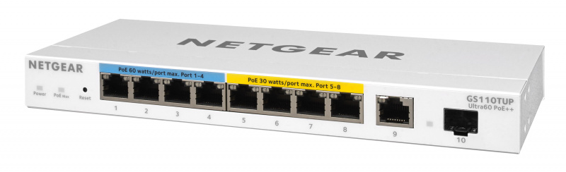 NETGEAR 10P GE U60 POE++ SMART PRO DESK SWC