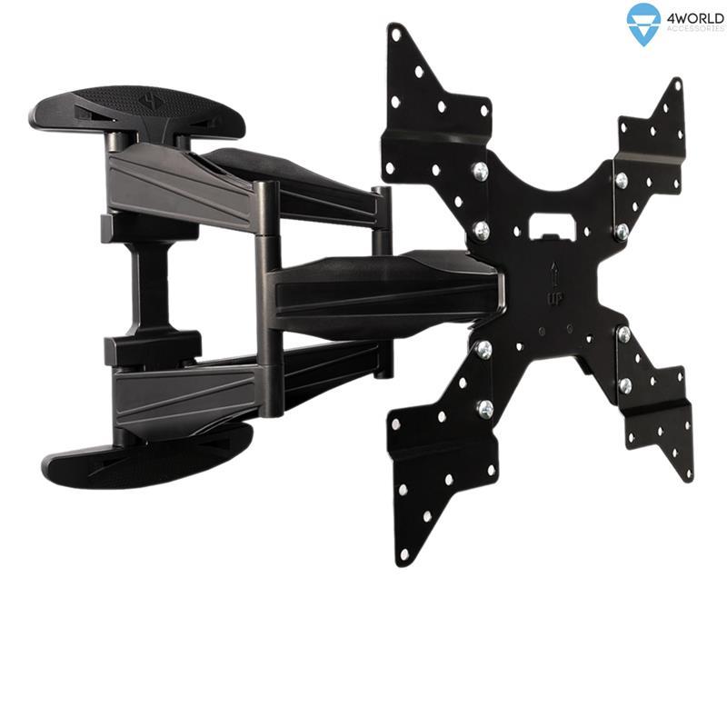 4World Otočný a sklopný držák pro LCD 32''-50'' nosnost max. 50kg BLK