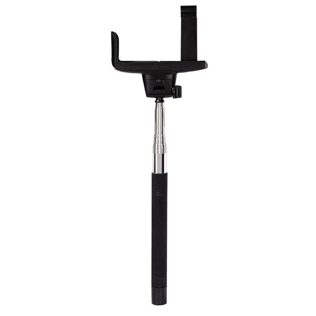 Hama Selfie MOMENTS 100, Bluetooth, selfie s integrovanou spouští, černý/stříbrný